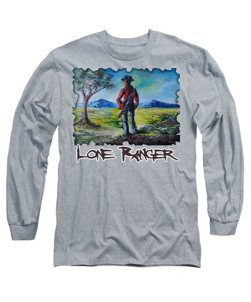Lone Ranger On Foot Long Sleeve T-Shirt