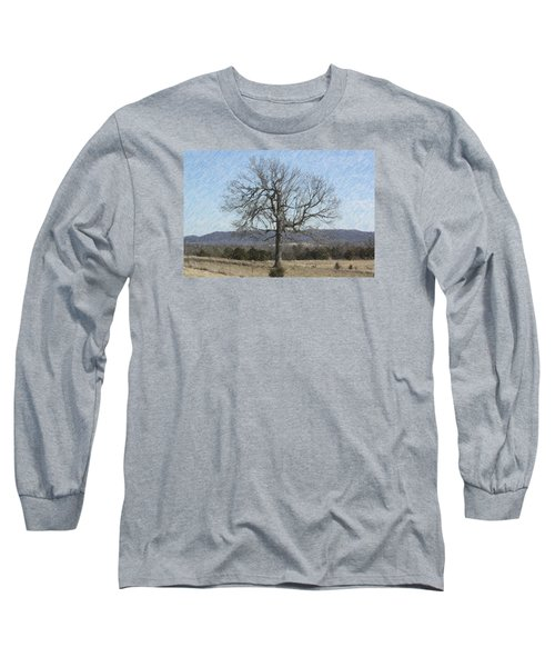Lone Tree Long Sleeve T-Shirt by Donna G Smith