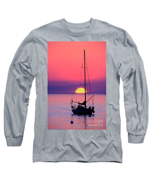 Long Sleeve T-Shirt featuring the photograph Lonely Sunset by Bernardo Galmarini