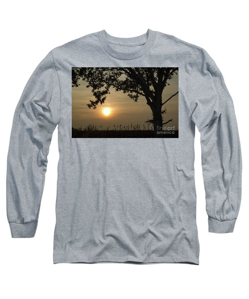 Lonely Tree At Sunset Long Sleeve T-Shirt by Kennerth and Birgitta Kullman