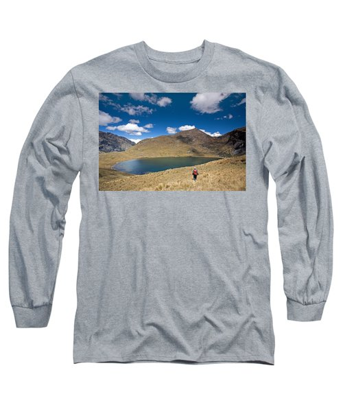 Lonely Walker At Punta Union Long Sleeve T-Shirt