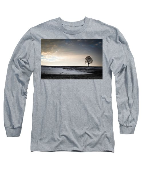 Lonesome Tree On A Hill IIi Long Sleeve T-Shirt by David Sutton
