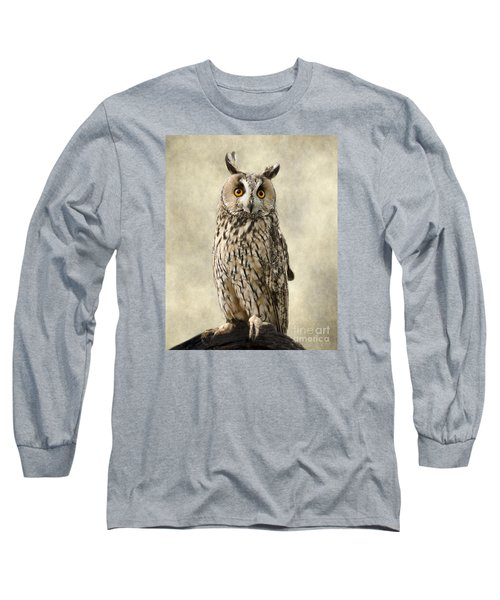 Long Eared Owl Long Sleeve T-Shirt by Linsey Williams