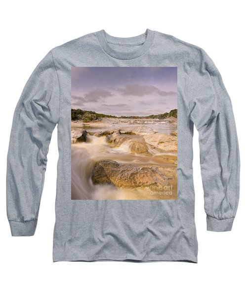 Long Exposure Of The Pedernales River - Pedernales Falls State Park Texas Hill Country Long Sleeve T-Shirt