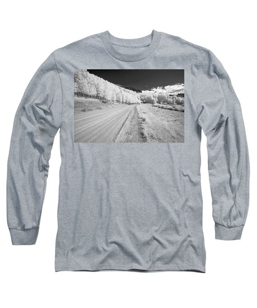 Long Sleeve T-Shirt featuring the photograph Long Road In Colorado by Jon Glaser