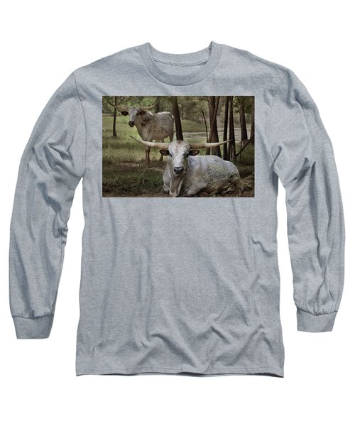 Longhorns On The Watch Long Sleeve T-Shirt