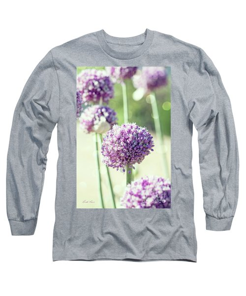 Long Sleeve T-Shirt featuring the photograph Longing For Summer Days by Linda Lees