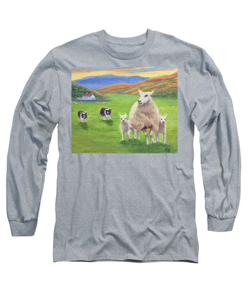 Long Sleeve T-Shirt featuring the painting Look Back by Fran Brooks