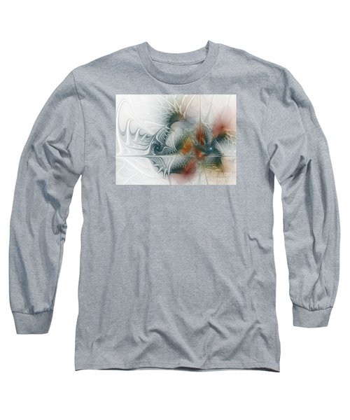 Long Sleeve T-Shirt featuring the digital art Looking Back by Karin Kuhlmann
