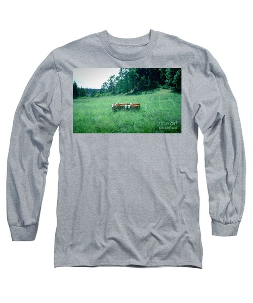 Long Sleeve T-Shirt featuring the photograph Looking Back by Peter Simmons