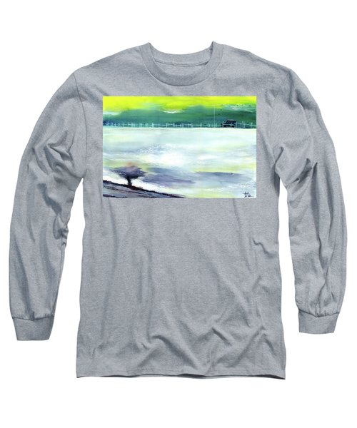 Long Sleeve T-Shirt featuring the painting Looking Beyond by Anil Nene