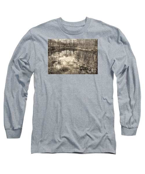Looking Down Long Sleeve T-Shirt by Betsy Zimmerli