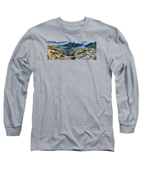 Looking Down On Waterton Lakes Long Sleeve T-Shirt