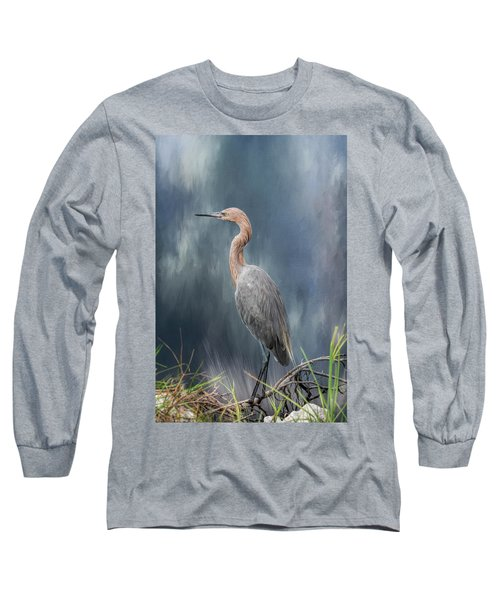 Long Sleeve T-Shirt featuring the photograph Looking For Food by Kim Hojnacki