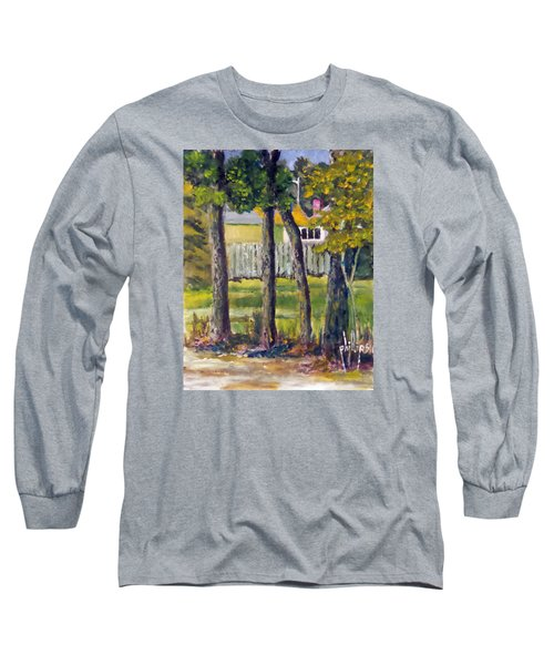 Long Sleeve T-Shirt featuring the painting Looking Into Brenn Marr by Jim Phillips