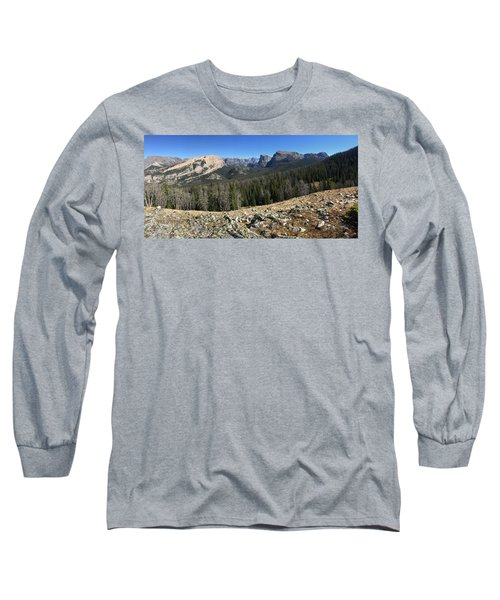 Looking Into The Bridger Wild Lands Long Sleeve T-Shirt