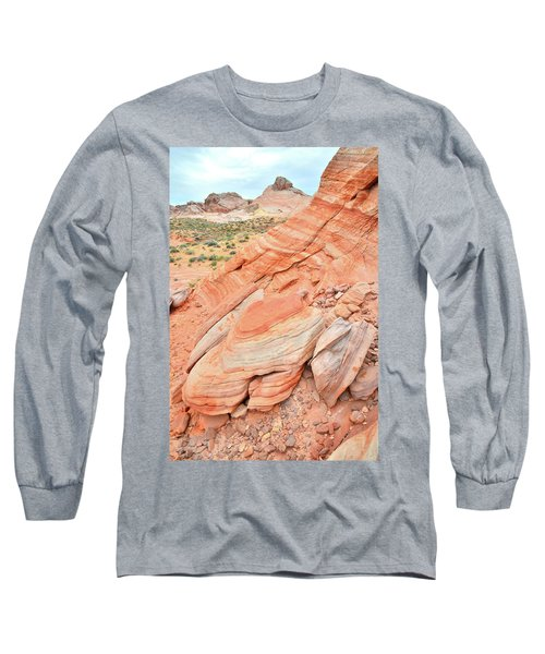 Long Sleeve T-Shirt featuring the photograph Looking South In Valley Of Fire by Ray Mathis
