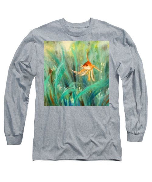 Looking - Square Painting Long Sleeve T-Shirt
