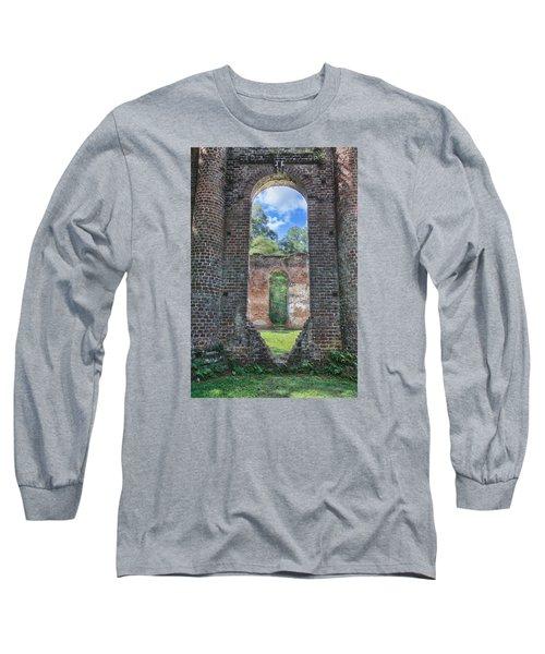 Looking Through The Old Sheldon Church Long Sleeve T-Shirt