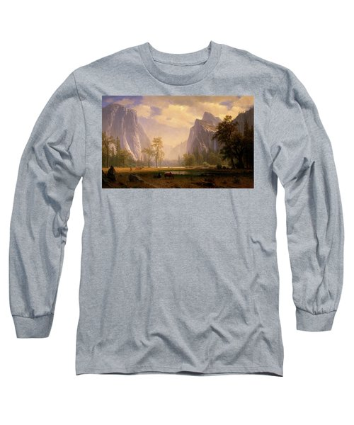 Looking Up The Yosemite Valley  Long Sleeve T-Shirt