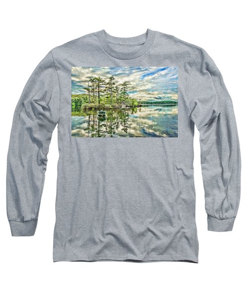 Loon Island Long Sleeve T-Shirt by Daniel Hebard