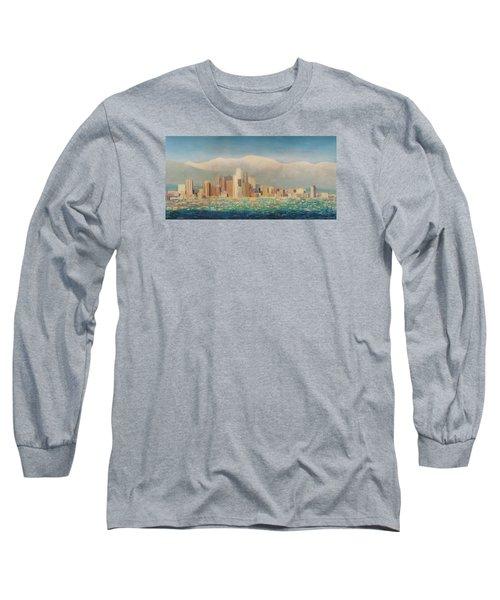 Los Angeles Sunset Long Sleeve T-Shirt by Douglas Castleman