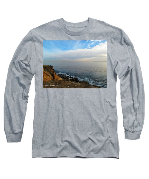 Long Sleeve T-Shirt featuring the photograph Los Angeles Sunset by Joan  Minchak