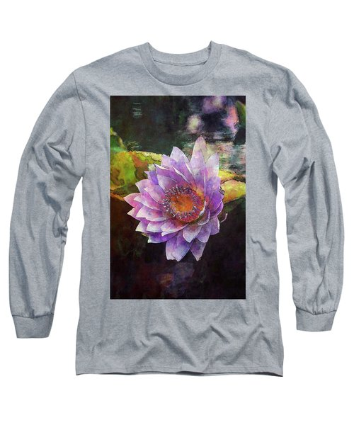 Lost Lavender Lotus Blossom 4725 Ldp_2 Long Sleeve T-Shirt