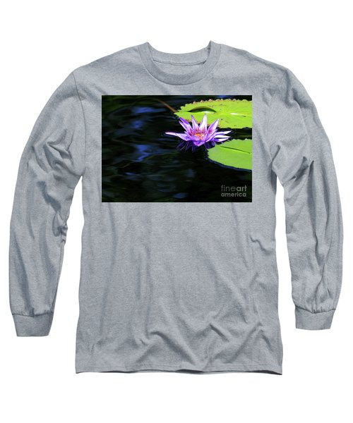 Lotus And Dark Water Refection Long Sleeve T-Shirt