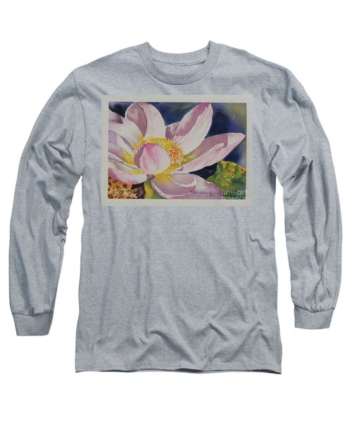 Lotus Bloom Long Sleeve T-Shirt by Mary Haley-Rocks