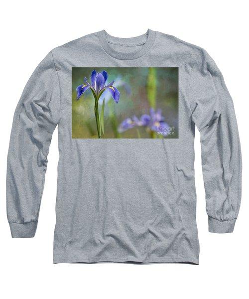 Long Sleeve T-Shirt featuring the photograph Louisiana Iris by Bonnie Barry
