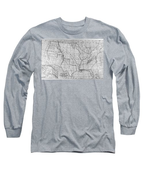 Louisiana Purchase Map Long Sleeve T-Shirt