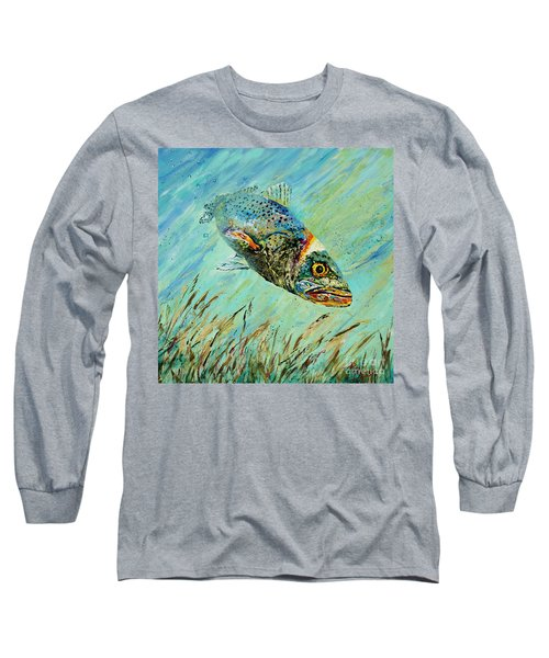 Louisiana Speckled Long Sleeve T-Shirt by Dianne Parks