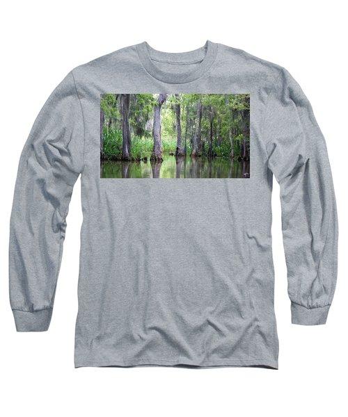 Louisiana Swamp 5 Long Sleeve T-Shirt by Inspirational Photo Creations Audrey Woods
