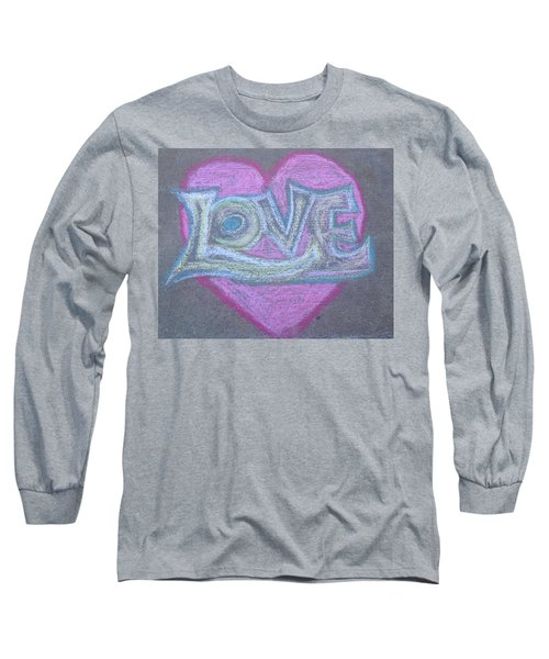 Long Sleeve T-Shirt featuring the pastel Love by Andrea Love
