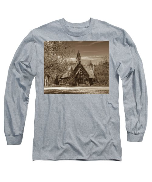 Love Chapel In Sepia Long Sleeve T-Shirt