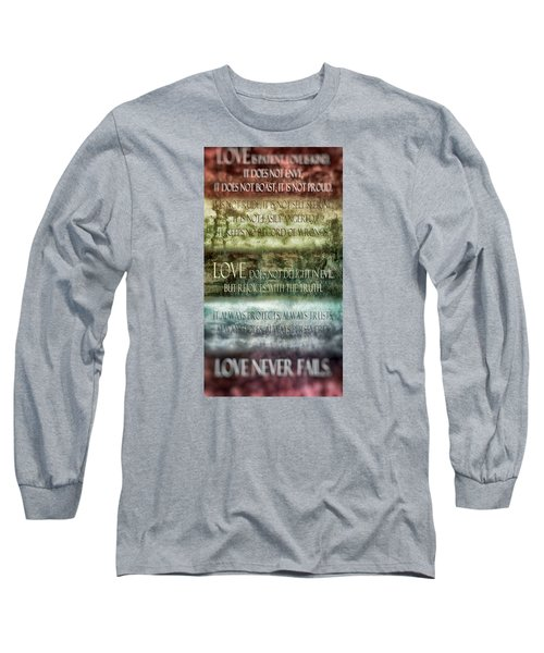 Long Sleeve T-Shirt featuring the digital art Love Does Not Delight In Evil by Angelina Vick