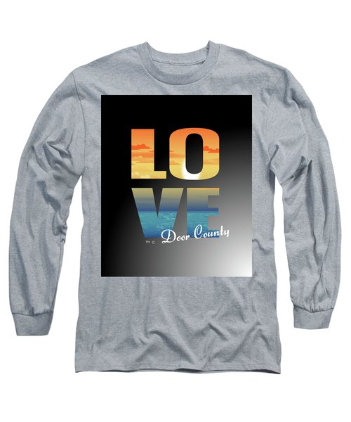 Love Door County Long Sleeve T-Shirt