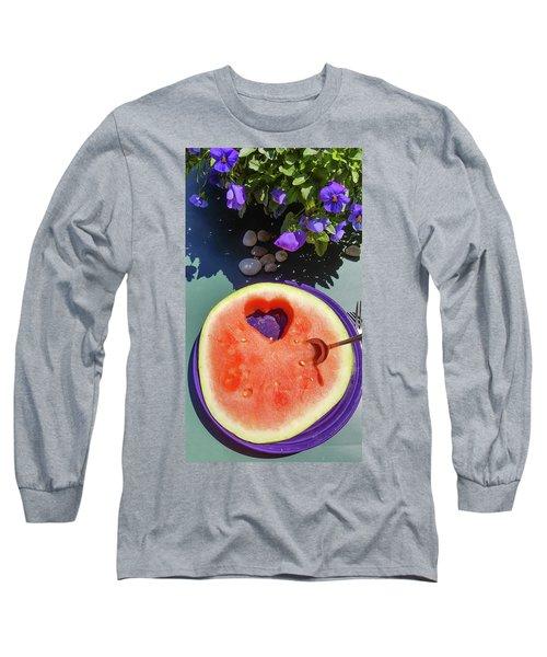 Love In Watermelon Long Sleeve T-Shirt