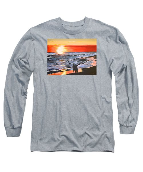 Long Sleeve T-Shirt featuring the painting Love Is In The Air by Donna Blossom