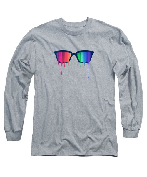 Love Wins Rainbow - Spectrum Pride Hipster Nerd Glasses Long Sleeve T-Shirt
