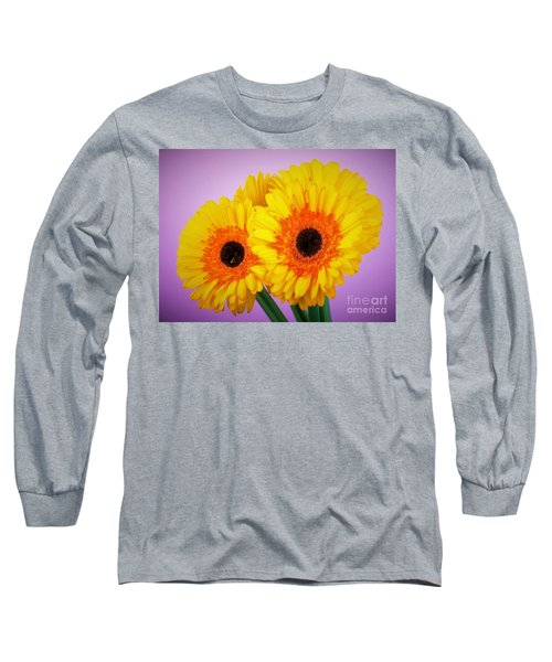 Lovely And Beautiful - Gerbera Daisies Long Sleeve T-Shirt by Ray Shrewsberry