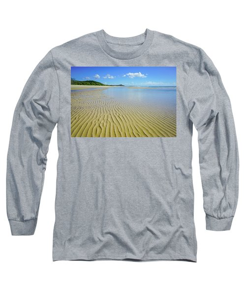 Low Tide Beach Ripples Long Sleeve T-Shirt