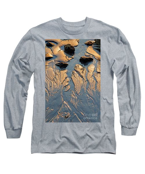 Low Tide Flow, Kettle Cove, Cape Elizabeth, Maine  -66557 Long Sleeve T-Shirt