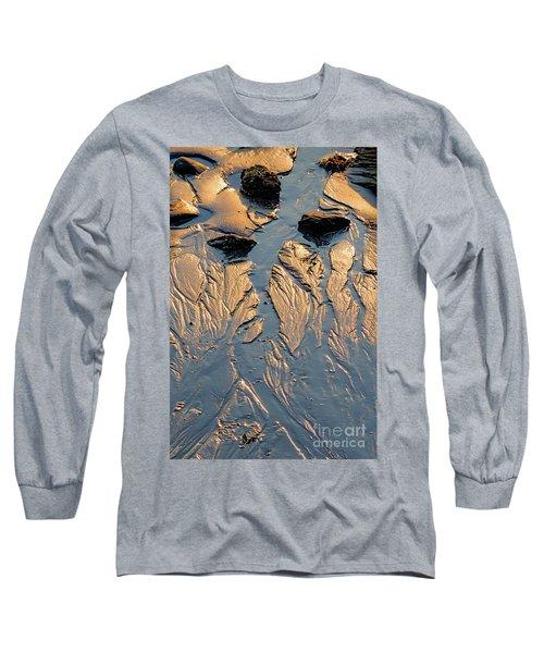 Low Tide Flow, Kettle Cove, Cape Elizabeth, Maine  -66557 Long Sleeve T-Shirt