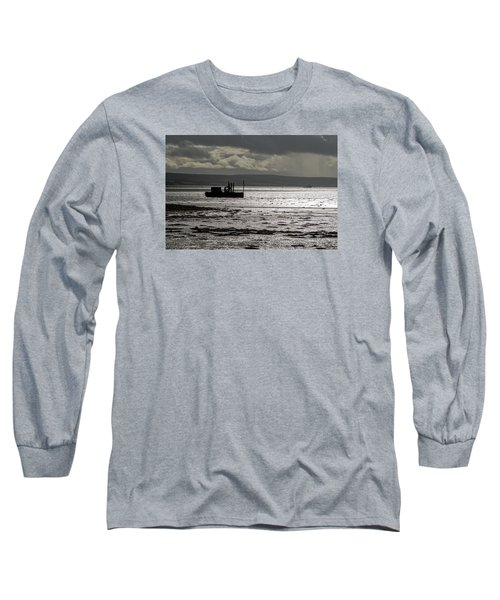 Long Sleeve T-Shirt featuring the photograph Low Tide In Isle Of Skye by Dubi Roman
