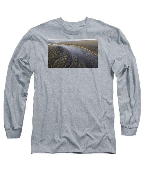 Low Tide Morning Long Sleeve T-Shirt by Elizabeth Eldridge