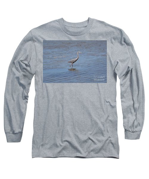 Long Sleeve T-Shirt featuring the photograph Low Tide Stroll by Carol  Bradley