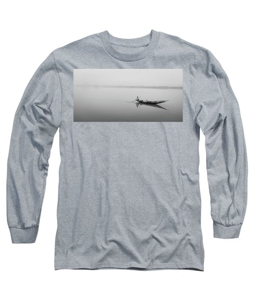 Long Sleeve T-Shirt featuring the photograph Lower Ganges - Misty Morinings by Chris Cousins
