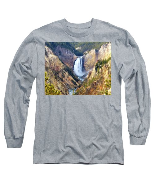Lower Yellowstone Falls Long Sleeve T-Shirt